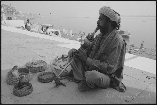 Cobra charmer in Varanasi India