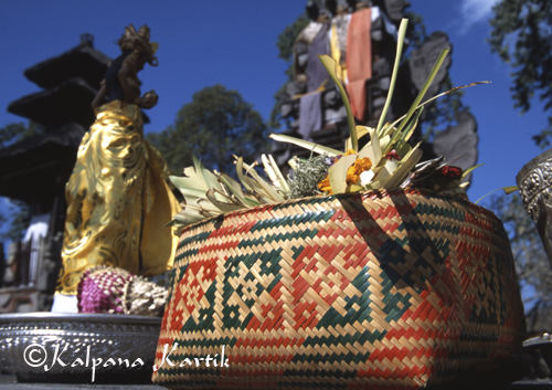 Divine gifts, aesthetics in the art of Balineseofferings