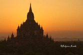 Fabulous sight of Bagan temples at sunset