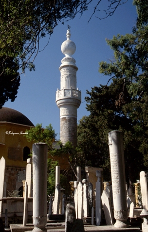 The old Turkish Muslim cemetery and Murad Reis Mosque