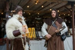 Dressed in medieval costumes at the Christmas market in Provins