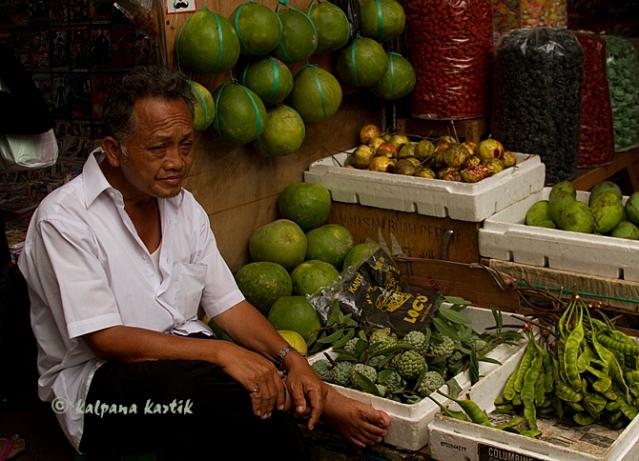 Fruit seller in Glodok Chinatown Jakarta
