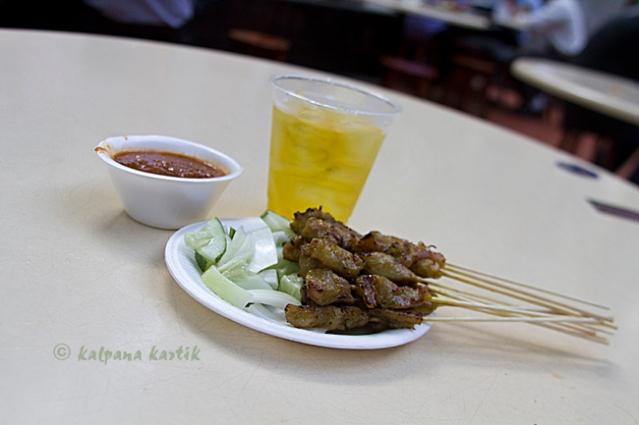 Sate and Chrysanthemum tea at Lau Pa Sak