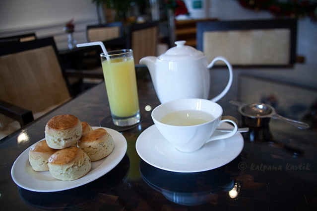 Scones and tea at the Executive Lounge