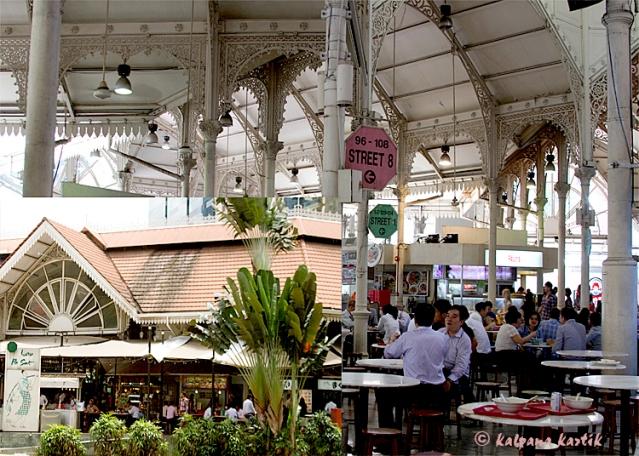 Lau Pa Sat Food court in Singapore