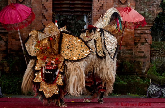 The good Barong in the form of a mythical lion figure