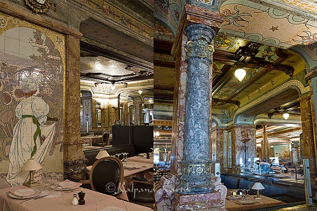 The Belle Epoque style at the Brasserie Mollard