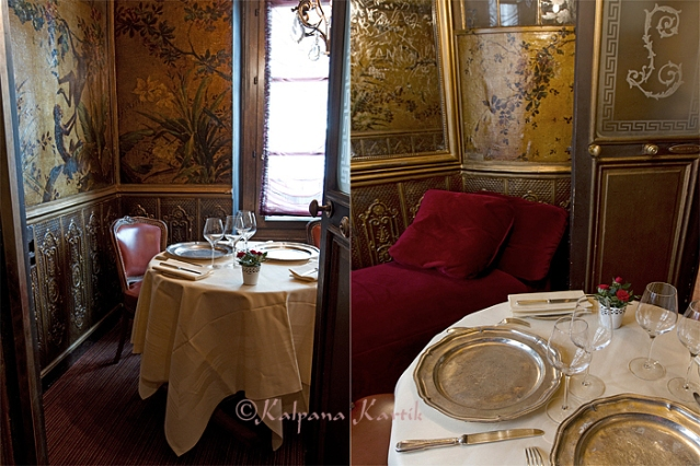 The most intimate Salon De La Belle Otéro on the the first floor of Lapérouse restaurant