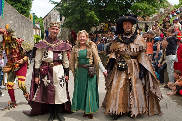The Medieval procession in the fortified city of Provins