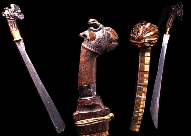Swords from the island of Nias, Indonesia