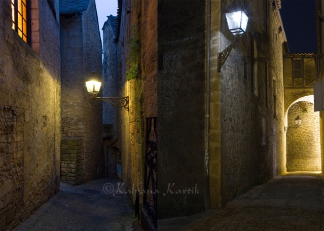 Alleyways in the Medieval city of Sarlat
