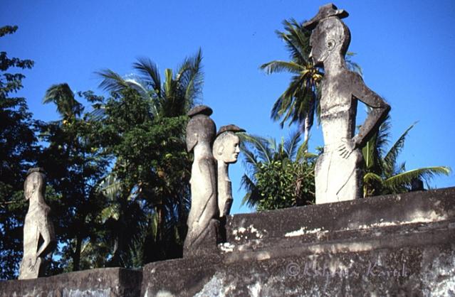 Royal stone tombs, east Sumba
