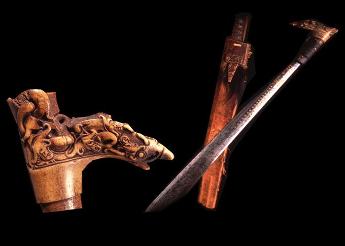 The Mandau sword of the Dayak tribe of Kalimantan (Borneo)