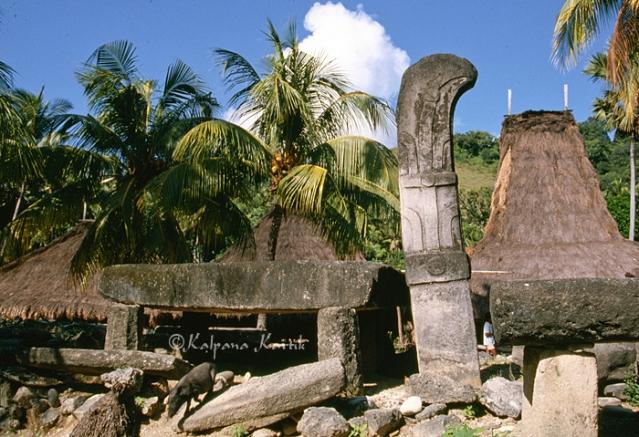Stone tombs in Sumba