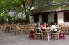 Chatting over a cup of tea in Renmin Park Chengdu