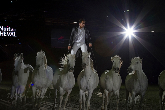 Lorenzo with his wonderful white horses from Camargue