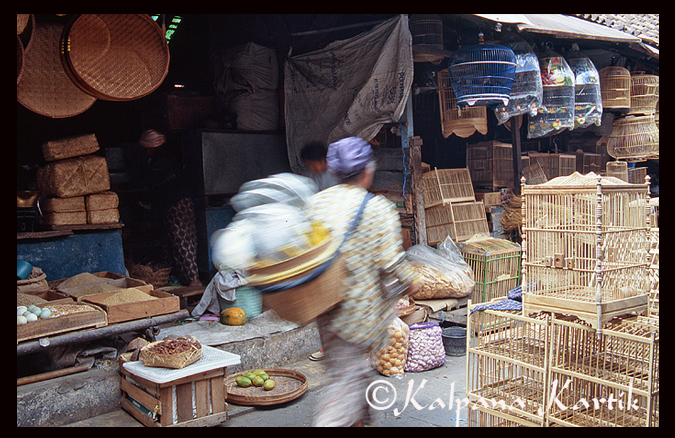 Market scene in Yogyakarta Central Java