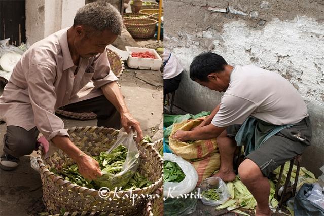 Vegetable sellers in Old Shanghai