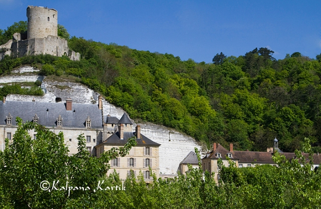 La Roche-Guyon castle with its Medieval watch tower