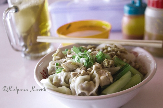 Dumpling and noodles in China town Jakarta Indonesia