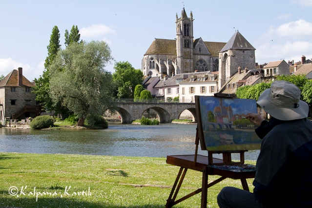 A painter in Moret sur Loing