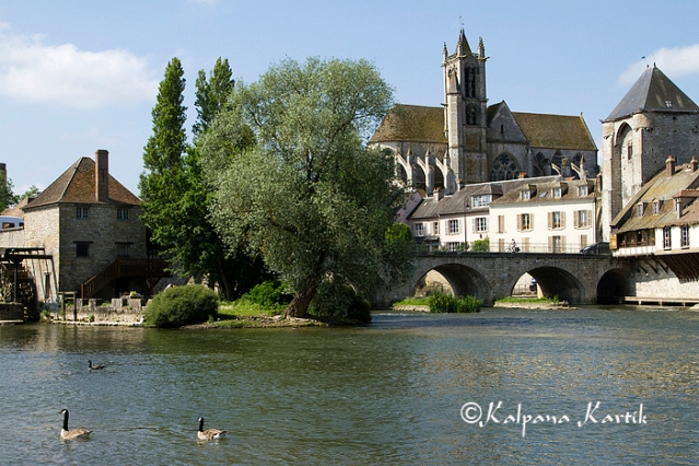 The charming town of Moret sur Loing