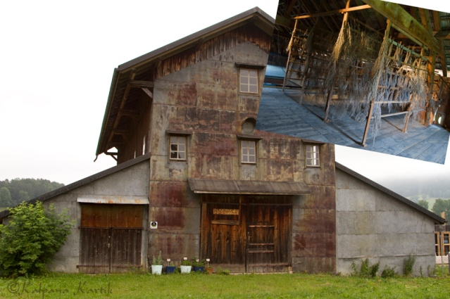 "The ""sechoir"" or the barn used to store and dry wormwood plants in Boveresse, Switzerland"