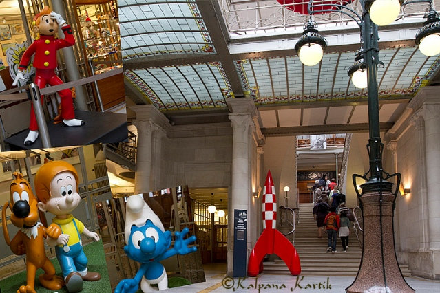 The Belgian Comic Strip Center housed in the Art Nouveau style of a former department store
