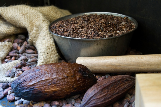 From cocoa beans to chocolate bars made at the Alain Ducasse chocolate factory in Paris