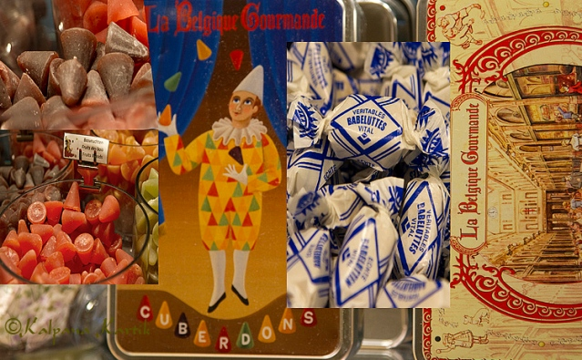Cuverdon and Babeluttes Belgian traditional candies