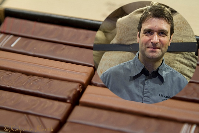 Nicolas Berger the chocolate maker and the chocolate bars