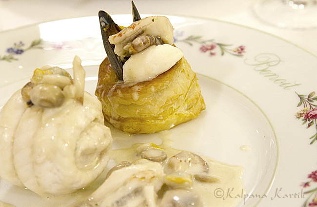 August Escoffier seafood Vol-au-vent puff pastry