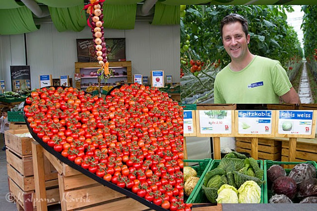Pascal Gutknecht the vegetable producer in Kerzers canton Fribourg