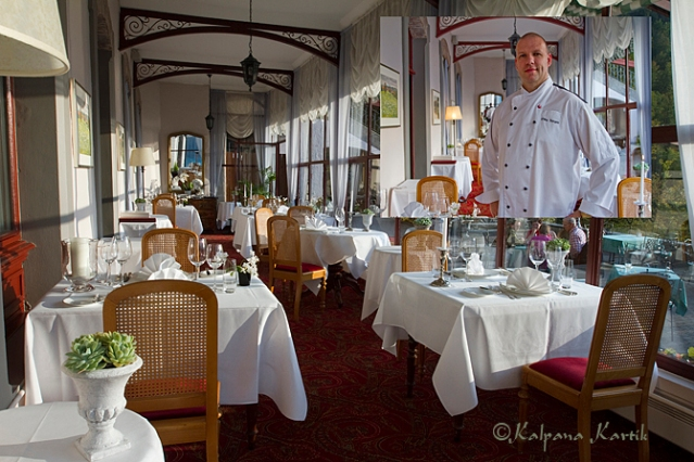 Mike Zarges Chef cook of the gastronomic restaurant Le Tapis Rouge