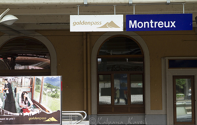 The Golden Pass in Montreux station