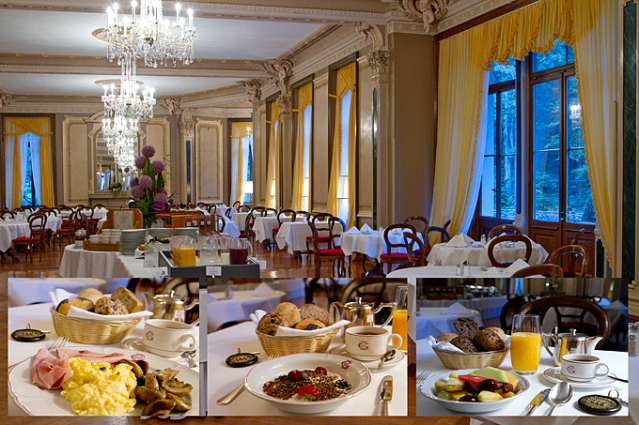 Breakfast at the Grand Hotel Giessbach