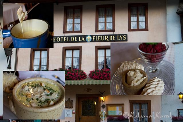 Local specialties at the Fleur de Lys