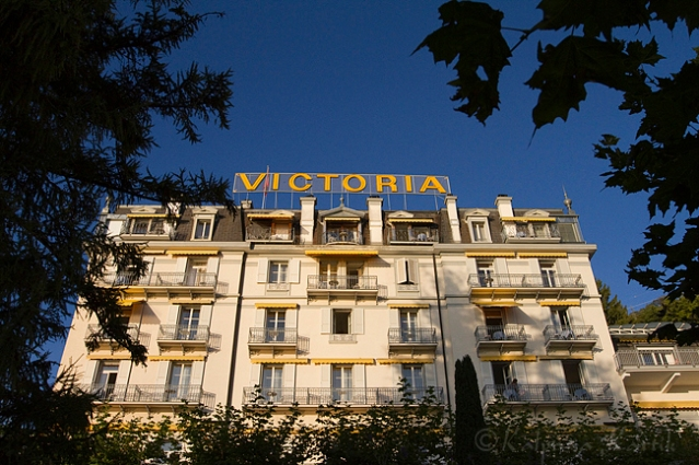 The romantic Victoria Glion hotel