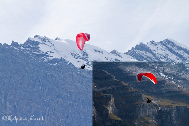 Paragliding along the Swiss Alps