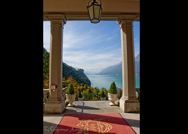 The Grand Hotel Giessbach on Lake Brienz