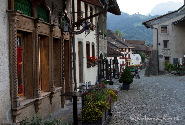 The medieval town of Gruyères