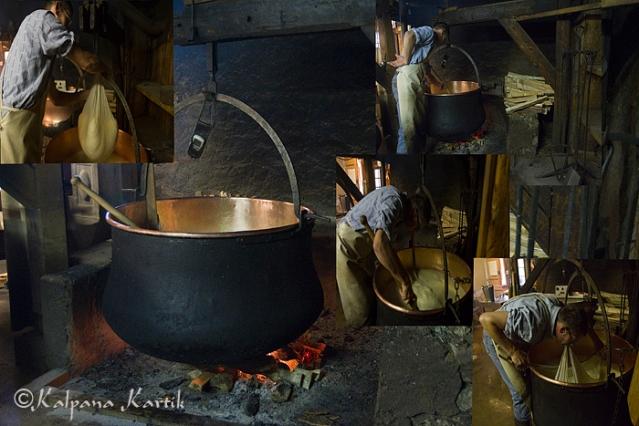 Making Vacherin cheese