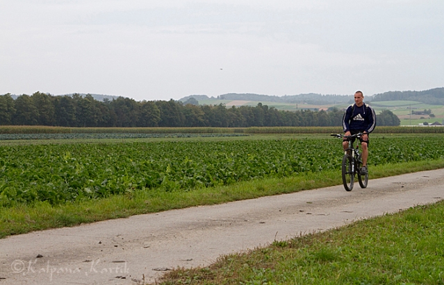 Cycling along the vegetable path in Seeland