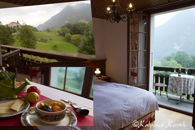 Hotel de Gruyères, room with a view