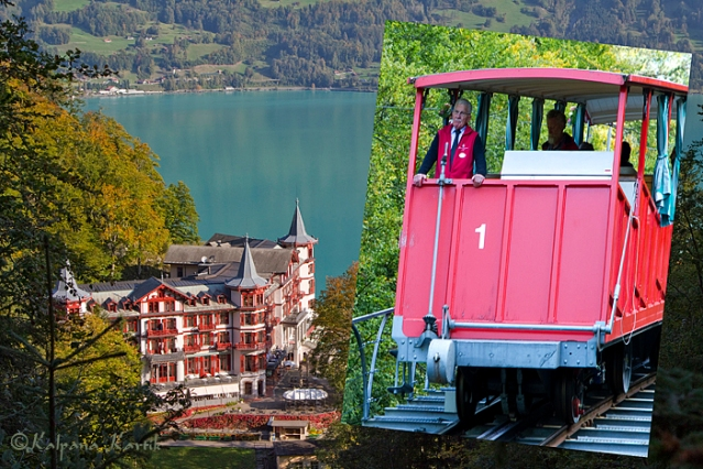 The Grand Hotel Giessbach and the nineteenth century funicular