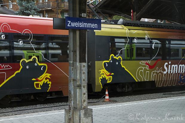 Zweisimmen train station