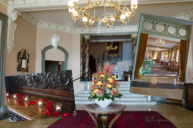 Entrance hall of the Grand Hotel Giessbach