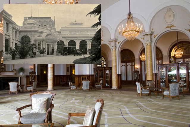The Grand Hall and the North entrance to Hotel de Cygne