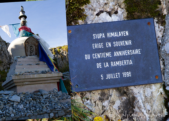 The Buddhist Stupa in the alpine garden of Rochers de Naye