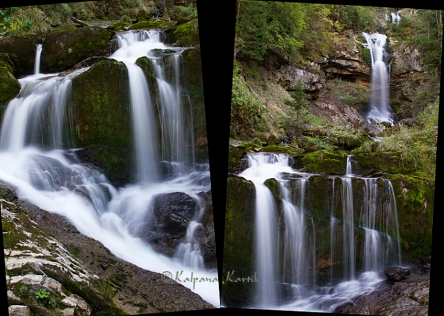 the beautiful Giessbach waterfall